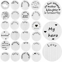 Floating Locket Charm Stainless Steel Plate for 30mm Glass Living Memory Mother