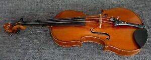 alte Geige 4/4 Violine mit Zettel Paris 1900 Old Violin with Label spielbereit