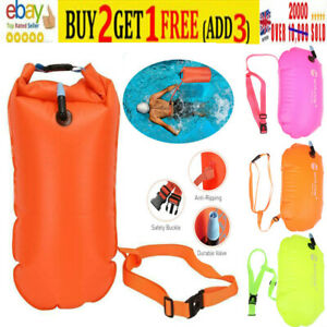 INFLATABLE OPEN WATER SWIM BUOY AIR DRY BAG DEVICE BUOY TOW FLOAT SWIM SAFETY UK