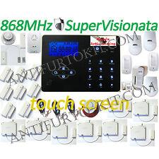 Kit Allarme 868 Mhz Wi-Fi Jamming Antifurto GSM Sensore esterno DT Wireless Casa