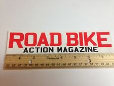"""8"""" ROAD BIKE ACTION MAGAZINE FRAME  BICYCLE STICKER DECAL"""