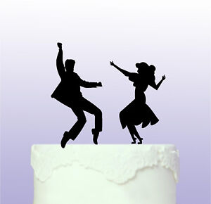 Personalised Dancing Couple Acrylic Cake Topper