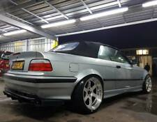 FENDER FLARES BMW E36 2x REAR ABS PLASTIC DRIFT WHEEL ARCHES OVERFENDERS WIDE