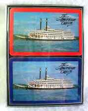 Vintage Double Deck THE AMERICAN QUEEN Playing Cards with Jokers Original Box