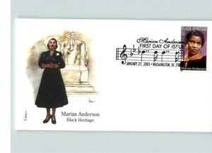 Black History, MARIAN ANDERSON, Opera Singer, 2 Different First Day covers, 2005