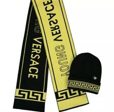 Versace Kids/ Young Versace Unisex Logo Wool Hat And Scarf Set. Size M Designer
