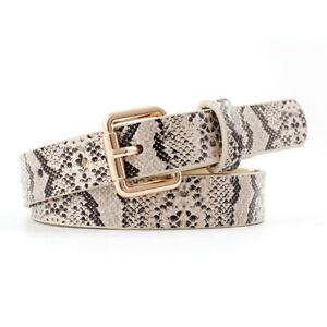 Ladies Casual Jeans Waistband Decoration Stylish Skinny Belt Snake Pattern Belts