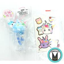 Hoppe Chan Sunhoseki Limited Blue Parfait Sundae Cup Mascot Strap Charm Stickers