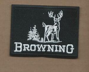 NEW 2 3/8 X 3 INCH BROWNING RIFLES IRON ON PATCH FREE SHIPPING P1