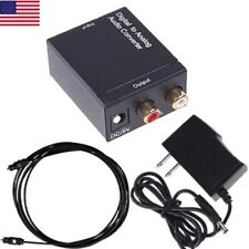 Digital to Analog Audio Converter Optical/Coaxial In Headphone/Speaker RCA out
