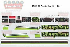 1985-90 Arctic Cat Kitty Cat Graphics Decal Reproduction Full Kit 22 Pieces