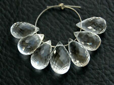 AAA Natural Crystal Rock Faceted Teardrop Briolette Gemstone Beads