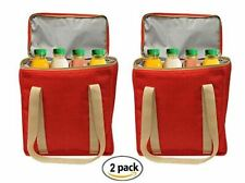 Reusable INSULATED Grocery Bag Tote Heavy Duty Nylon Thermal Cooler (2 pack)