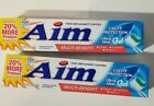 Aim Toothpaste - Ultra Mint Gel Tartar Control 5.5 ounces / 2 PACK