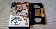 A GREAT AMERICAN TRAGEDY UK PRE CERT IFS VHS VIDEO 1981 George Kennedy