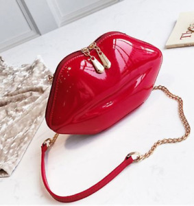 Red Lips Handbag Purse Womens Gothic Glamour Pinup Vampire Rockabilly Crossbody