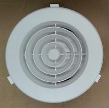 "Ducted Heater 150mm Round Plastic Ceiling Vent Outlet - 6"" Downjet - White"