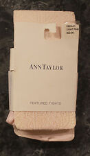 Ann Taylor Textured Tights M Pink