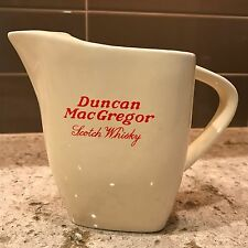 DUNCAN MAC GREGOR  SCOTCH WHISKY PUB JUG PITCHER NR MNT BUCHAN TRIANGLE SHAPE
