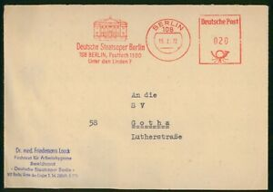 MayfairStamps Germany Opera House Berlin 1972 Cover wwp61781