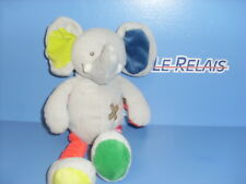 JAN18/ DOUDOU INFLUX ELEPHANT GRIS ORANGE VERT BLEU RAYE  FDP GRATUIT