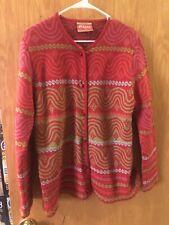 Oleana Cardigan Sweater Alpakka Alpacha L Pink Green