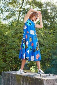 "Lovely GORMAN X Atelier Bingo ""Bleu"" Maxi Cotton Dress -  size 10"