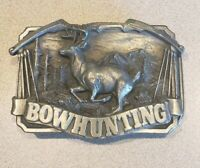 Beramot Pewter Bowhunting Buck Siskiyou Belt Buckle 1983 Hunting Hunt Deer