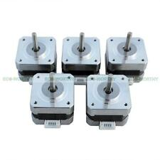 5PCS DC 12V NEMA 17 Stepper Motors Kits for CNC Reprap 3D Printer 36oz-in 26Ncm