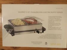 Styled Gourmet 3 Quart Stainless Steel Electric Buffet Server - New in Box