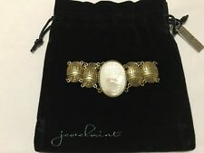 Jewelmint Fashion Jewelry Tribal Bracelet White Enamel Brass Plated