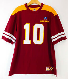 WASHINGTON REDSKINS ROBERT GRIFFIN III #10 JERSEY Logo NFL MAJESTIC MEN'S LARGE