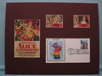 Disney's Alice in Wonderland & First Day Cover of Stamp