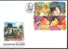 SOLOMON ISLANDS GREAT IMPRESSIONISTS  MARY CASSATT  SHEET FDC