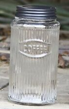 Unique Primitive  Rustic Hoosier Kitchen Cabinet Mfg. Co Glass COFFEE Canister