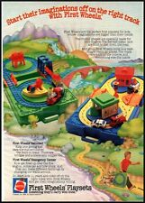 First Wheels Playsets Vintage Ad 1982 (111811)