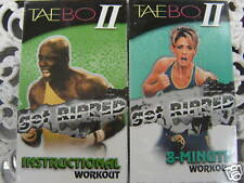 BILLY BLANKS ~ TAE BO 2 ~ INSTRUCTIONAL + 8 MINUTE WORKOUTS ~ NEW VHS VIDEOS
