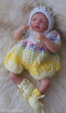 "Dolls Knitting PATTERN to KNIT 'Ruthie' Romper Set for 8-12"" Reborns, Emmy  #36"