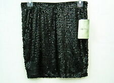 Juniors Black Sequin Mini Skirt Sz Medium Pencil Tube Party Lily Rose NWT