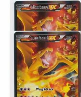 2 X Charizard EX NM XY121 Red Blue Black Star Holo FULL ART Promo Pokemon TCG