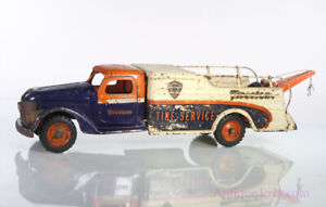 Buddy L Pressed Steel Firestone Tire & Tow Truck