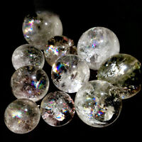 NATURAL RAINBOW CLEAR QUARTZ CRYSTAL SPHERE BALL HEALING GEMSTONE GIFT