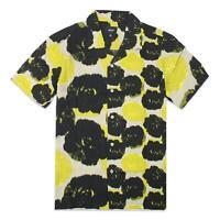 HUF Mens Hamptons Resort S/S Shirt Stone M New
