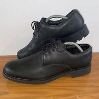 Timberland Men's Earthkeepers Stormbuck Oxford Leather Shoe Plain Toe Black UK 9