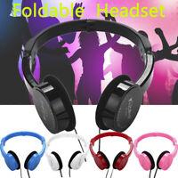 Kubite Kids Wire Headphones On Ear Foldable Stereo Headset For Kids Earphone