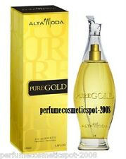 PURE GOLD POUR FEMME ALTA MODA FOR WOMEN 3.3 OZ / 100 ML EAU DE TOILETTE SPRAY