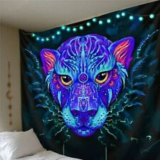 Purple Leopard Tapestry Wall Hanging Tapestry Hippie Tapestry Psychedelic Trippy