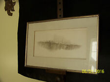 """Harold Altman Listed American Artist Original Signed Gallery Etching""""The Street"""""""