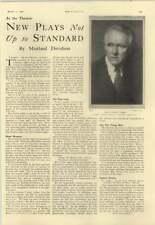 1928 James Bernard Fagan, New Plays, Enid Wilson, Lewis Shaw, Elsie Janis