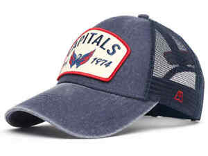 "Washington Capitals ""Vintage"" trucker hat cap, blue"